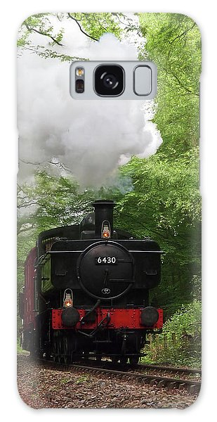 Steam Train Approaching In The Forest Galaxy Case by Gill Billington
