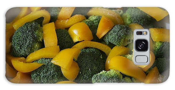 Galaxy Case featuring the photograph Steamed Broccoli And Peppers by Vadim Levin