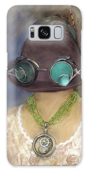 Steampunk Beauty With Hat And Goggles - Square Galaxy Case by Betty Denise