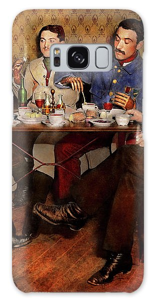 Galaxy Case featuring the photograph Steampunk - Bionic Three Having Tea 1917 by Mike Savad