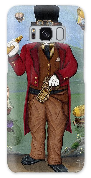 Steampunk Cat Guy - Victorian Cat Galaxy Case