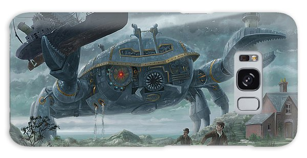 Steampunk Giant Crab Attacks Lighthouse Galaxy Case