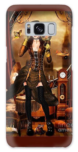 Steampunk Girl Galaxy Case