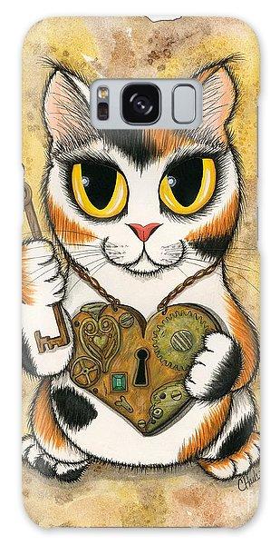 Steampunk Valentine Cat Galaxy Case