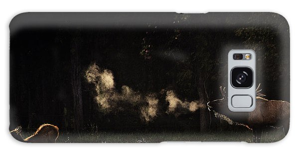 Steamy Breath Elk Bugle Galaxy Case