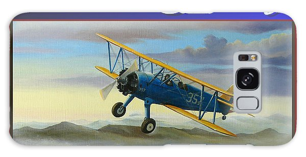 Stearman Christmas Card Galaxy Case