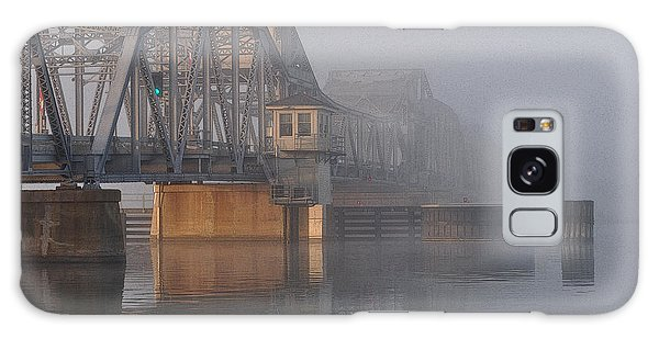 Steel Bridge In Fog Galaxy Case