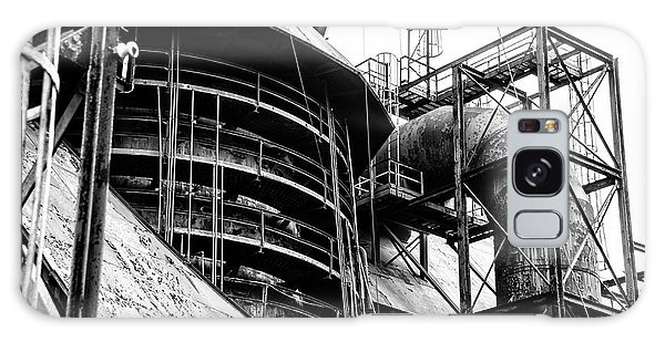 Steel Mill In Black And White - Bethlehem Galaxy Case by Bill Cannon