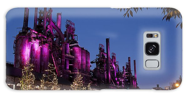 Steel Stacks At Night Galaxy Case by Michael Dorn