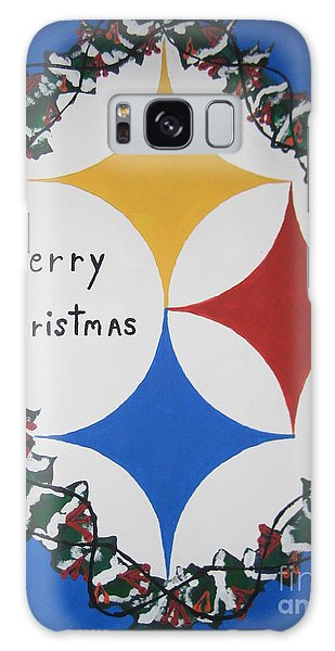 Steelers Christmas Card Galaxy Case