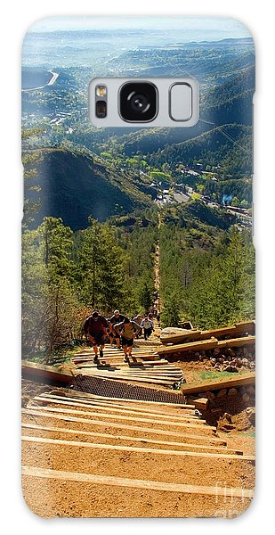 Steep Manitou Incline And Barr Trail Galaxy Case