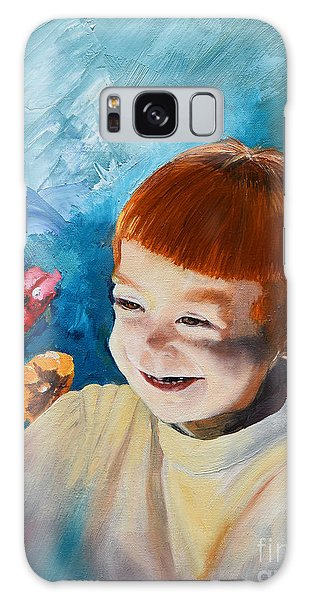 Stefi- My Trip To Holland - Red Headed Angel Galaxy Case