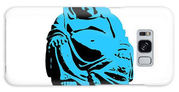 Buddhism Galaxy Case - Stencil Buddha by Pixel Chimp