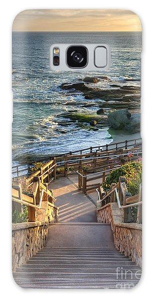 Steps To Treasure Island Beach Galaxy Case by Eddie Yerkish