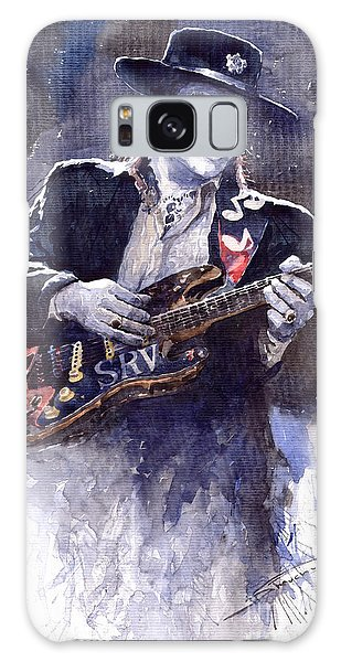 Portret Galaxy Case - Stevie Ray Vaughan 1 by Yuriy Shevchuk
