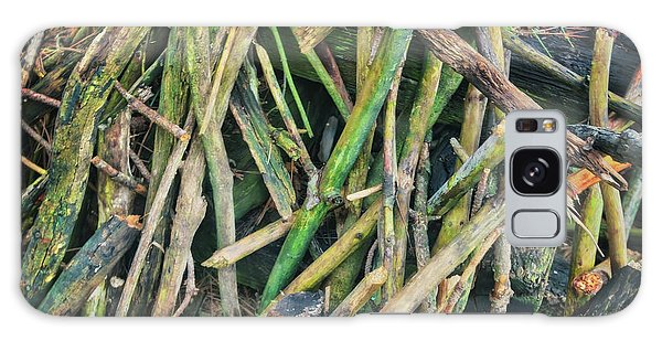 Stick Pile At Retzer Nature Center Galaxy Case by Jennifer Rondinelli Reilly - Fine Art Photography