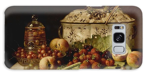 Still Life  Fruit And Dishes  Late 19th Century Oil On Panel Gottfried Schultz  German  1842  1919 Galaxy Case