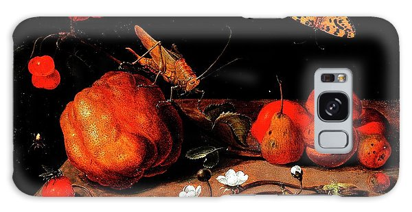 Still Life Fruit Grasshopper Butterfly Galaxy Case
