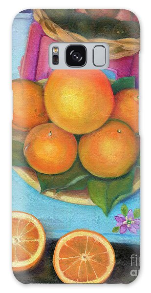 Still Life Oranges And Grapefruit Galaxy Case by Marlene Book