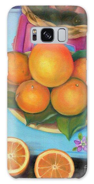 Still Life Oranges And Grapefruit Galaxy Case