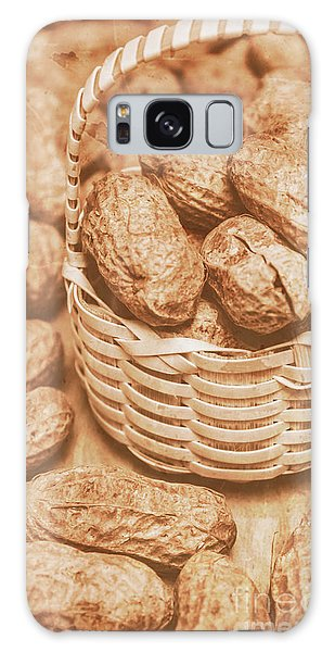 Indoors Galaxy Case - Still Life Peanuts In Small Wicker Basket On Table by Jorgo Photography - Wall Art Gallery