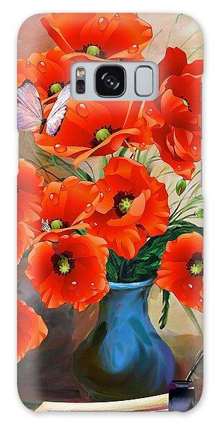 Still Life Poppies Galaxy Case