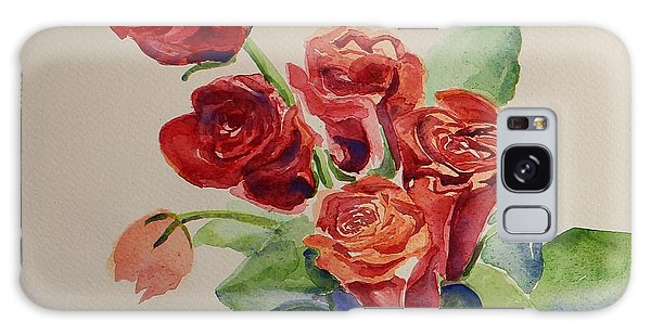 Still Life Red Roses Galaxy Case by Geeta Biswas