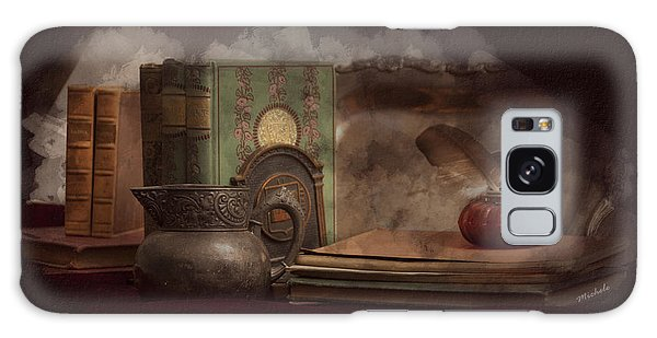 Still Life With Antique Books, Silver Pitcher And Inkwell Galaxy Case