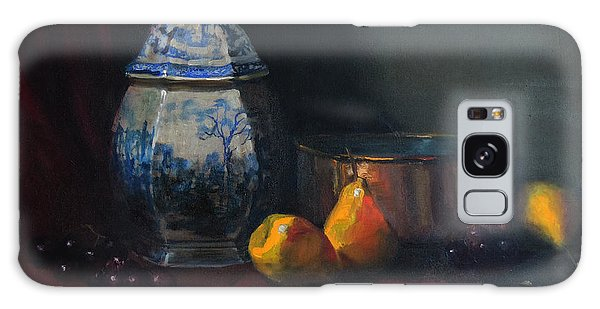 Still Life With Antique Dutch Vase Galaxy Case by Barry Williamson