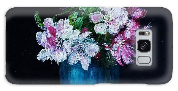 Still Life With Apple Tree Flowers In A Blue Vase Galaxy Case