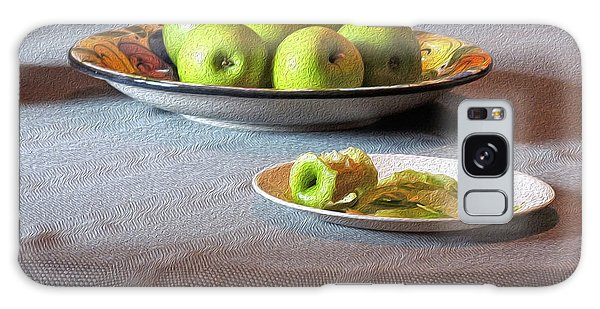 Still Life With Apples And Chair Galaxy Case