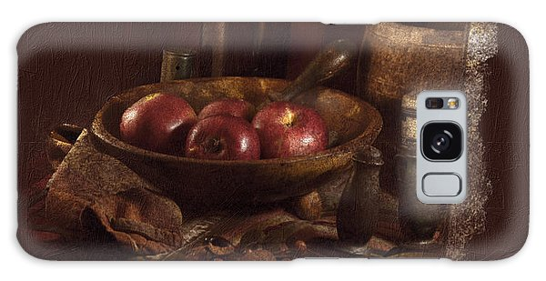 Still Life With Apples, Bottles, Baskets And Shakers. Galaxy Case