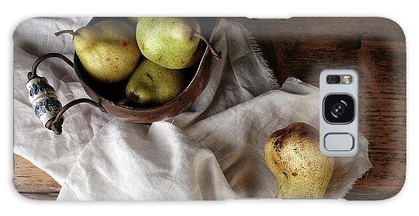 Metal Leaf Galaxy Case - Still-life With Arrangement Of Pears  by Nailia Schwarz