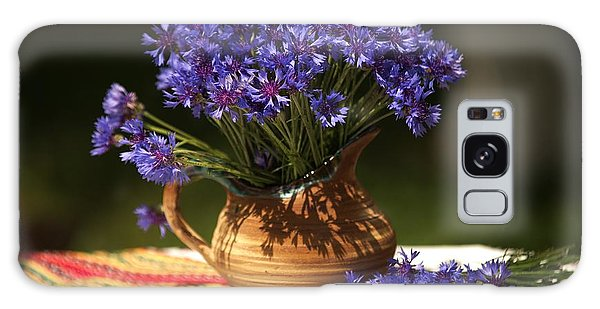 Still Life With Blue Flowers Galaxy Case