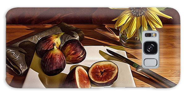 Still Life With Flower And Figs Galaxy Case