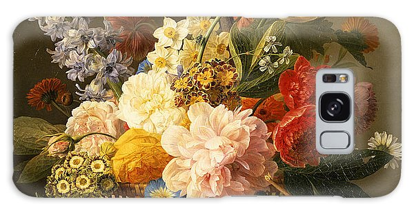 Jan Galaxy Case - Still Life With Flowers And Fruit by Jan Frans van Dael