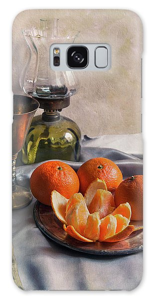 Still Life With Fresh Tangerines And Oil Lamp Galaxy Case by Jaroslaw Blaminsky