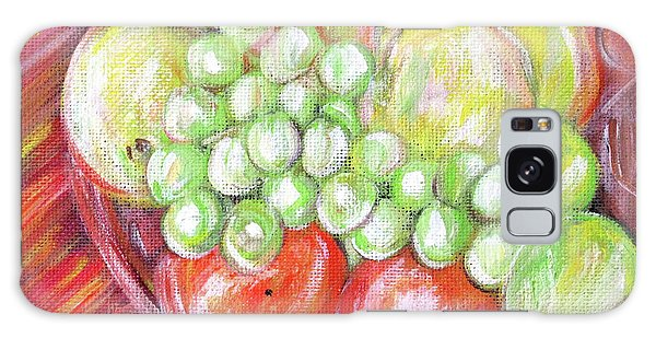 Still Life With Fruits. Harvest Time.painting  Galaxy Case