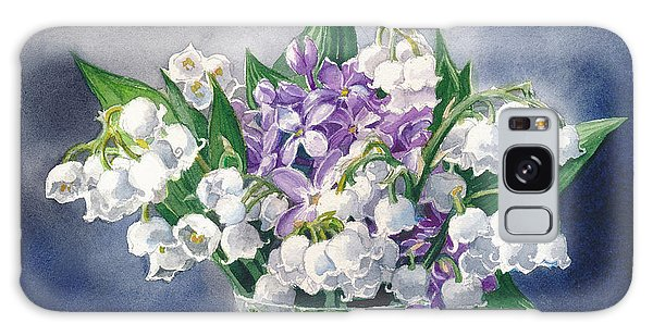 Still Life With Lilacs And Lilies Of The Valley Galaxy Case