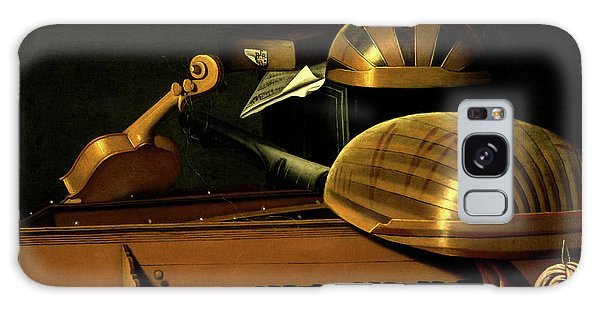 Still Life With Musical Instruments And Books Galaxy Case