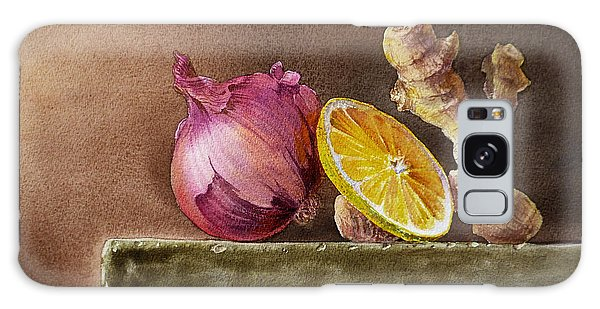 Still Life With Onion Lemon And Ginger Galaxy Case
