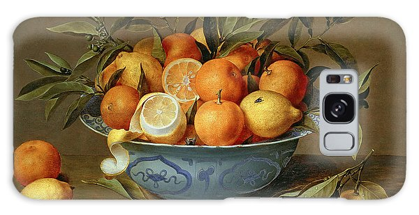 Still Life With Oranges And Lemons In A Wan-li Porcelain Dish  Galaxy Case