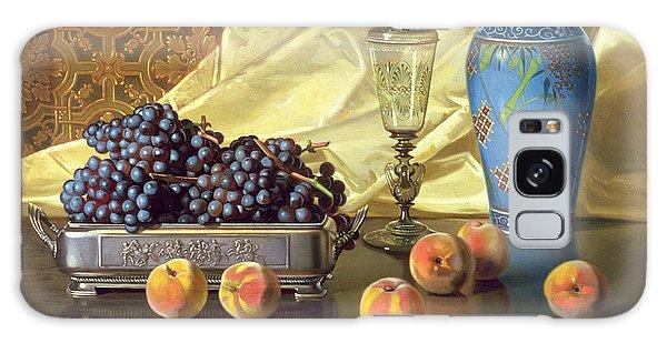 Still Life With Peaches Galaxy Case by Edward Chalmers Leavitt