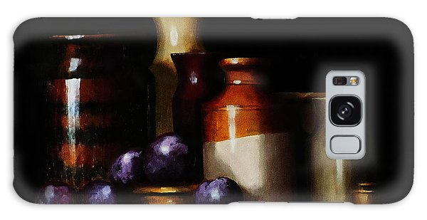 Still Life With Plums Galaxy Case by Barry Williamson