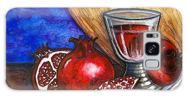 Still Life With Pomegranate And Goblet 1 Galaxy Case by Rae Chichilnitsky