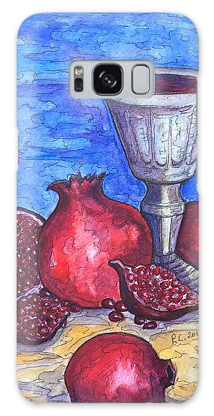 Still Life With Pomegranate And Goblet 2 Galaxy Case by Rae Chichilnitsky