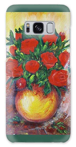 Still Life With Roses Galaxy Case by Rita Fetisov