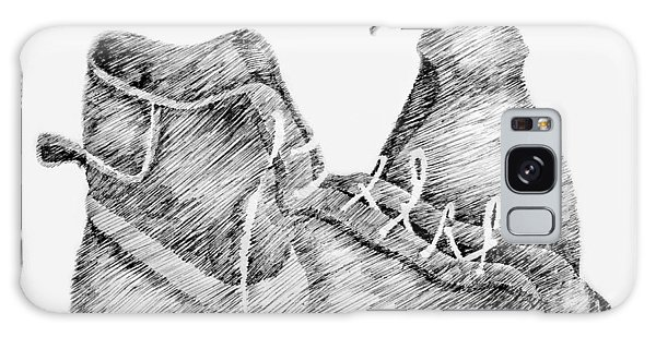 Pen And Ink Drawing Galaxy Case - Still Life With Shoe And Spray Bottle by Michelle Calkins