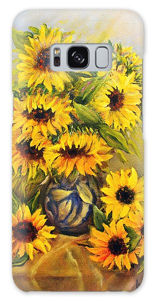 Still Life With Sunflowers Galaxy Case