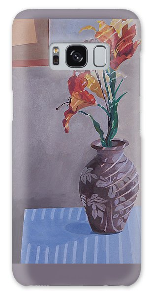 Still Life With Tiger Lilies Galaxy Case